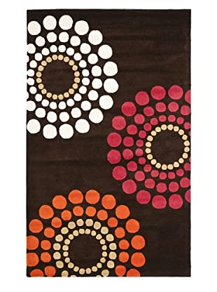 Soho Rugs Large Medallions (Brown/Multi)