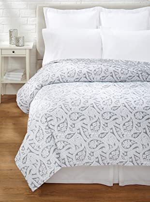 Belle Epoque Kashmir Paisley Coverlet (Black/White)