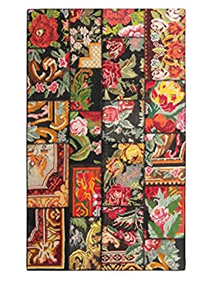 nuLOOM Hand-Knotted One-of-a-Kind Turkish Patchwork Kilim, Multi, 4' 11