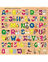 Kinder Creative Alpha Numeric Board With Knobs & Pictures