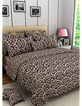 Bombay Dyeing Ambrosia Cotton Double Bedsheet with 2 Pillow Covers - Grey