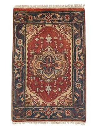 Rug Republic One Of A Kind Indo-Serapi Hand Knotted Rug, Antique Red/Multi, 2' 1