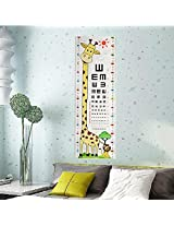 Kid Baby Giraffe Lion Vision Testing Chart Wall Sticker Removable Home Kindergarten Decor