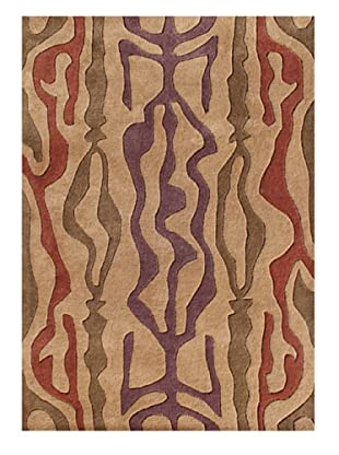 Horizon Rugs New Zealand Wool Rug (Gold/Red/Violet/Biscuit)