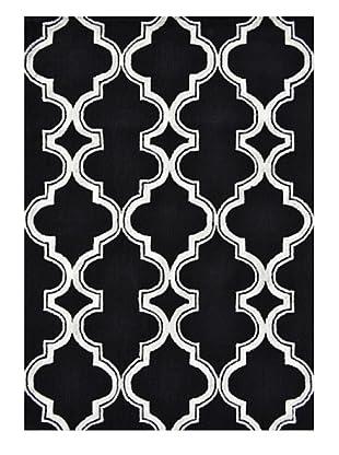 The Rug Market Jafar Rug (Black/White)