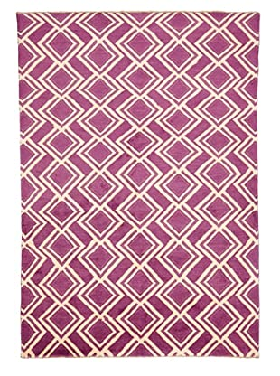 Azra Imports Vogue Rug, Purple/Ivory, 5' 3