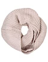 Simplicity Solid Infinity Scarf in a Ultra Plush Knit Pattern, Beige
