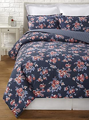 Tommy Hilfiger Rustic Floral Collection Comforter Set (Smoke)