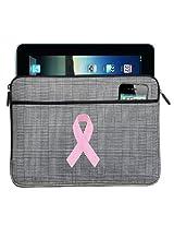 Pink Ribbon IPAD SLEEVE Breast Cancer Awareness Tablet Case STYLISH PLAID