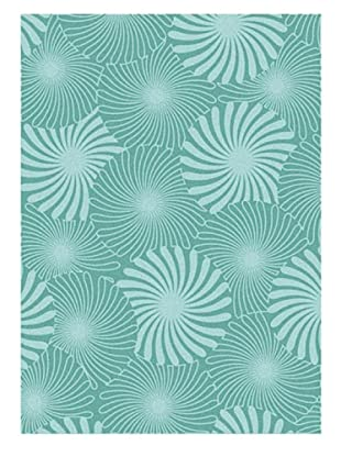 Horizon Alliyah Collection Floral Prism Rug (Electric Green/Ice Green)
