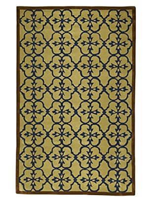 Kavi Handwoven Rugs Contemporary Rug (Taupe/Brown/Blue)