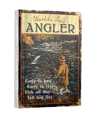 Artehouse World's Best Angler Reclaimed Wood Sign