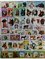 THEME ~ DOGS ~ 50 Different STAMPS ~ ALL LARGE