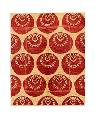 Design Community by Loomier Alfombra Pamir Beige / Rojo 172 x 210 cm