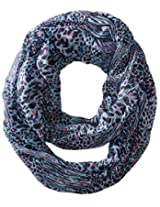 RAMPAGE Women's Animal Light Weight Infinity Scarves, Blue, One Size