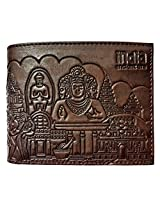 Men Designer Wallet with India Ancient Era Theme (Chocolate Brown)