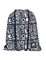 PinStar Black and White FMX Printed Break Away String Backpack