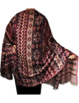 Womens Jamawar Shawl Wrap Wool India Clothing Gift (82 x 42 inches)