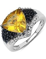 Silverona Citrine Silver Ring