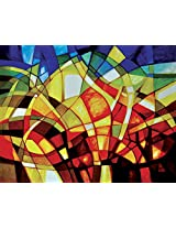Faim Paintings Abstract Art Fire and snow Canvas Print 28x22 Frameless