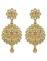 Gorgeous Partywear Design Charm Look Polki Earrings For Women