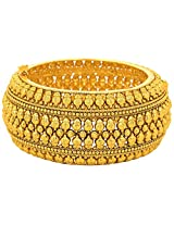 JFL - Exquisite n Ethnic Gold Designer One Gram Gold Plated Openable Kada for Women