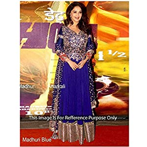 Madhuri Dixit In blue Green Anarkali Suit
