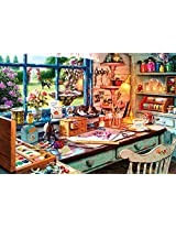 Buffalo Games Grandma Craft Shed Jigsaw Puzzle (2000 Piece)