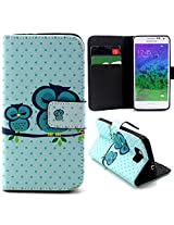 Bracevor Sleepy Owl Design Wallet Leather Flip Cover for Samsung Galaxy Alpha G850 - Multicolour
