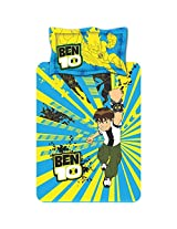 Ben10 Blue And Yellow Kids Single Bed Sheet Set from Ben 10