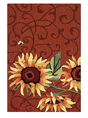 Homefires Rugs Sunflower & Bee, Red, 22