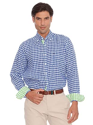 PEDRO DEL HIERRO Camisa Cuadros Bicolor (Azul / Blanco)