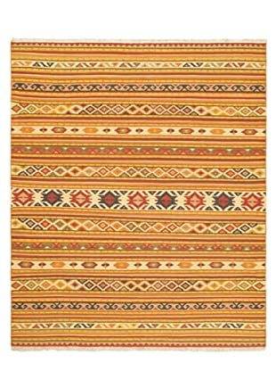 Hand Woven Izmir Wool Kilim, Light Orange, 8' 2
