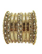 Aria bridal collection gold plated multi colour 30pc new hot bangle for women l19