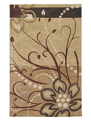 Surya Athena Hand Tufted Rug, Beige/Mocha/Gold, 8' Square