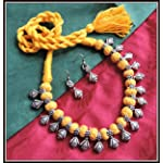 [N16O_023] Yellow Thread Necklace 03