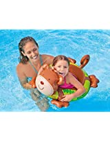 Intex Monkey Shaped Deluxe Inflatable Animal Pool Ring Paddling Float for 3 - 6 Year Kids and Children