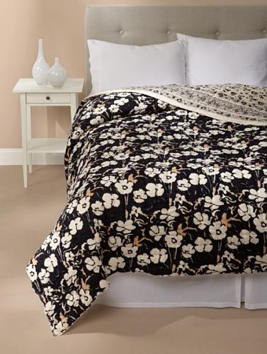 Kerry Cassill Quilt (Big Black Floral)