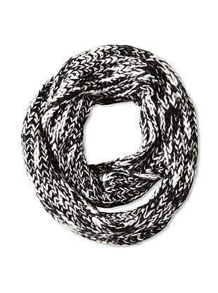 Isaac Mizrahi Women's Marled Infinity Scarf, Black