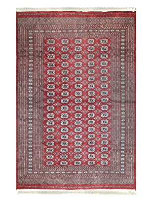 The Rug Market Bohkra Rug, Red/Ivory/Brown, 6' x 9'