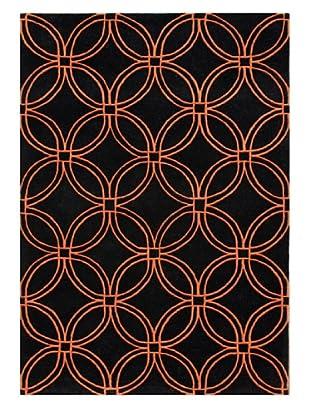 Horizon Beverly Hills Collection Rug (Black/Rust)