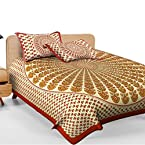 Beautiful Multicolor Cotton Printed Double Bed Sheet With 2 Pillow Covers With Two Pillow Covers