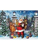 Ceaco 550 Piece Spirit Of Christmas Jigsaw Puzzle Santa At The Gate