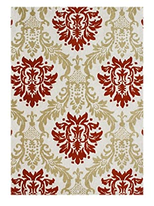 Alliyah Rugs New Zealand Wool Rug (Antique/Cherry/Sea Mist)