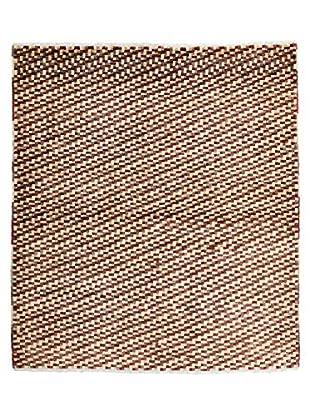 Darya Rugs Modern Oriental Rug, Brown, 4' 4