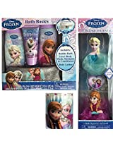 Frozen Bath and Body Set with Mesh Sponge and Qtips