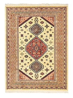 Persian Rug, Copper/Light Yellow, 5' 6
