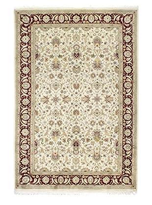 Bashian Rugs Pakistan Kashan Rug, Ivory/Red, 6' 6