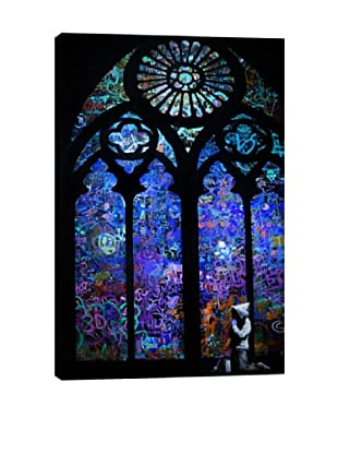 Banksy Stained Glass Window II Giclée On Canvas