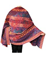 Shawls and Wraps Paisley Boiled Wool Womens Indian Clothes (78 x 42 inches)